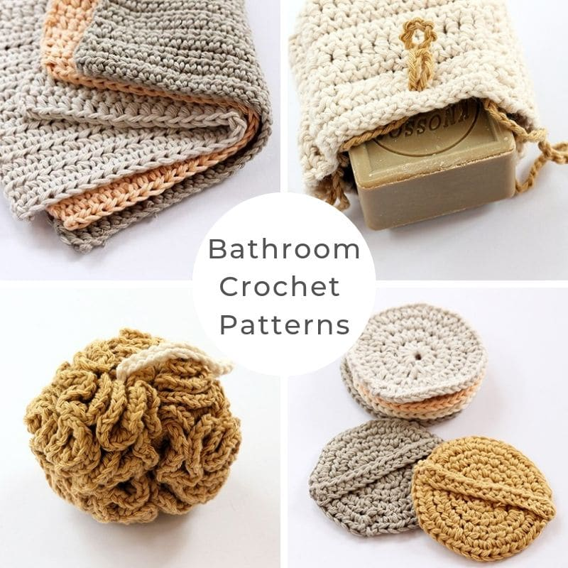 Crochet bathroom collection
