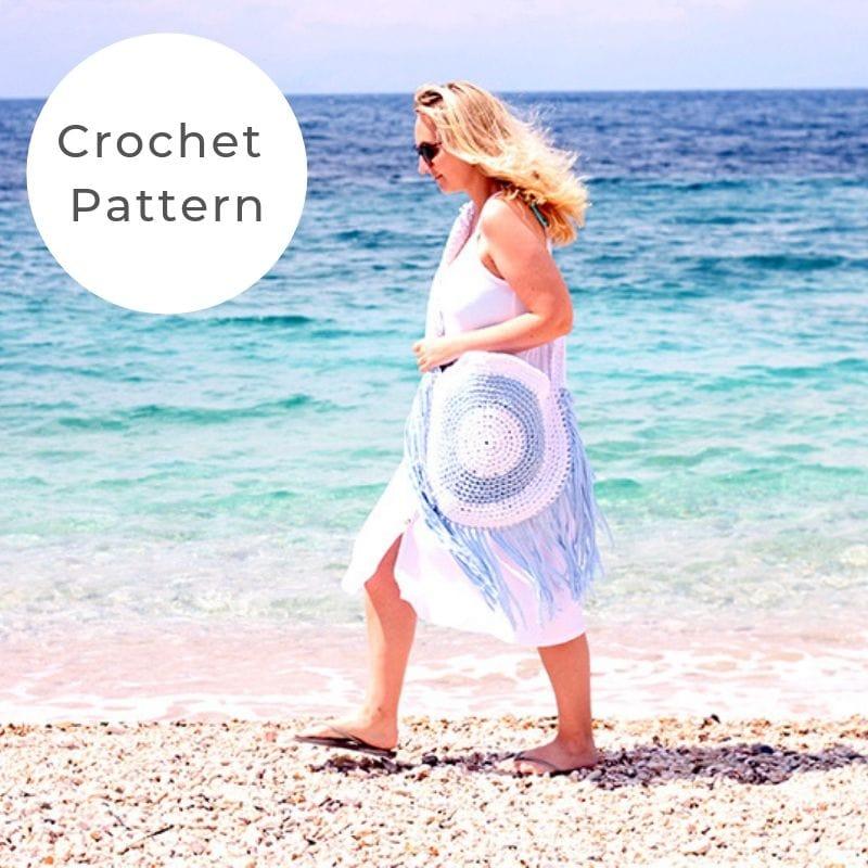 Crochet circle beach bag pattern