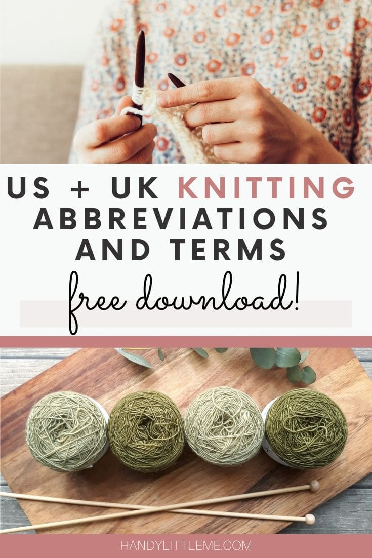 Knitting abbreviations and terms free download