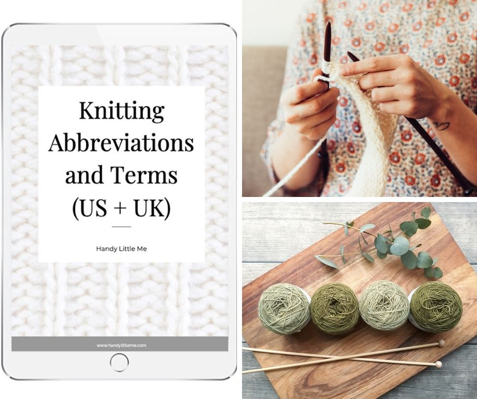 Knitting abbreviations and terms