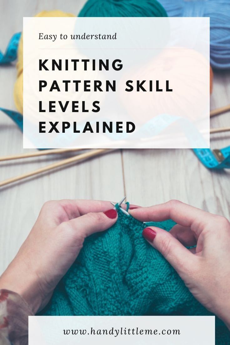 Knitting patterns skill levels