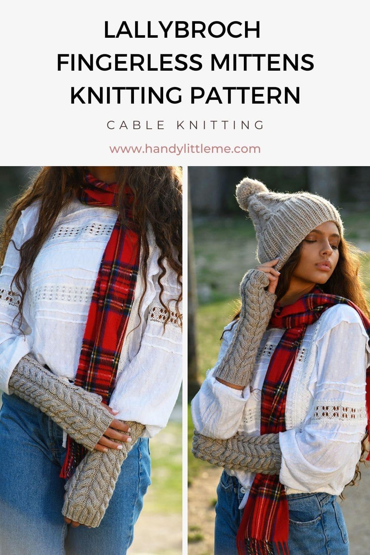 Lallybroch fingerless mittens pattern