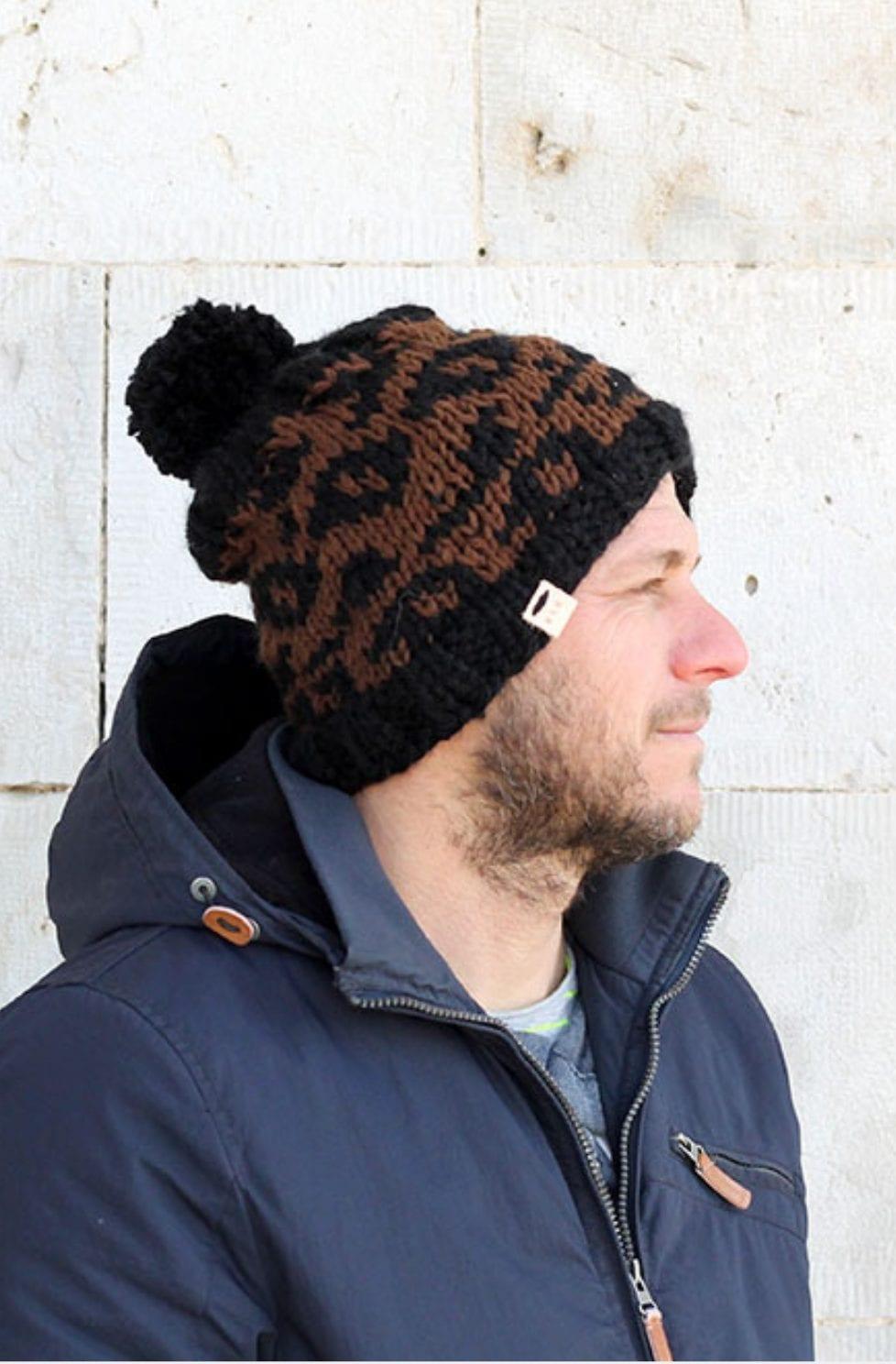 Leopard print hat pattern
