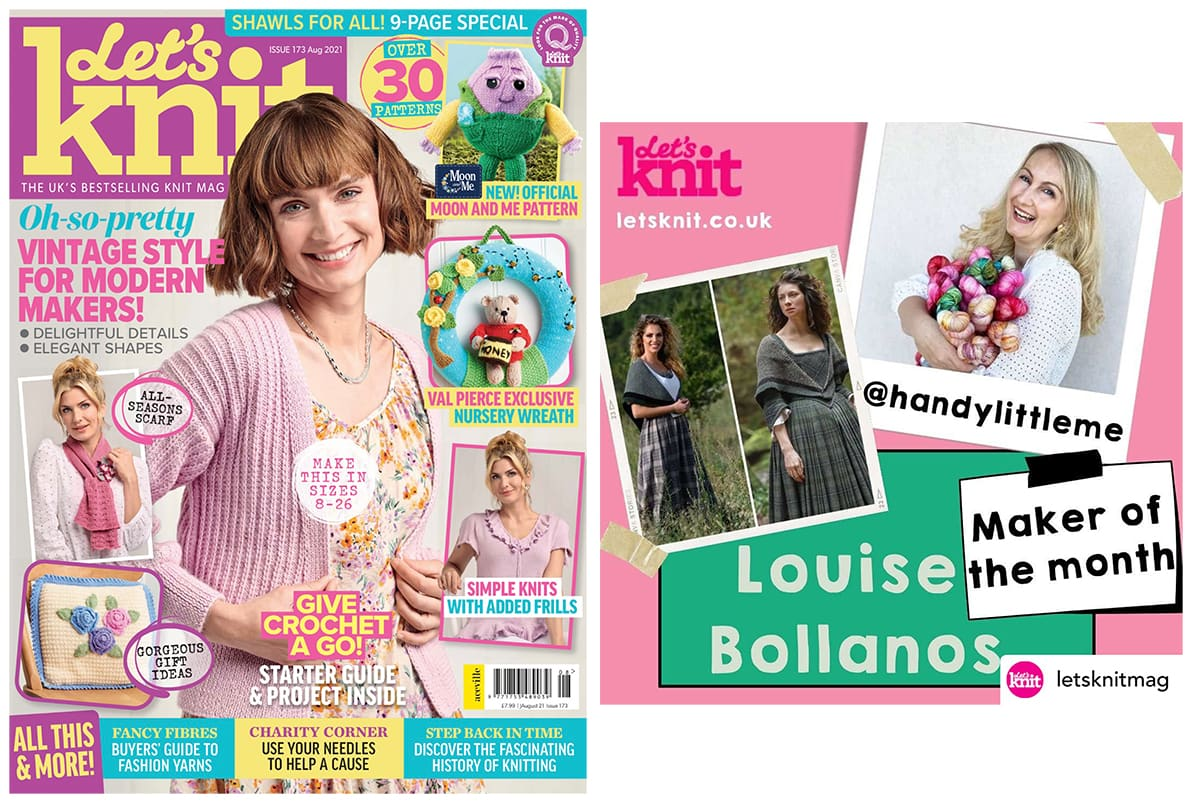 Louise in Let's Knit Mag