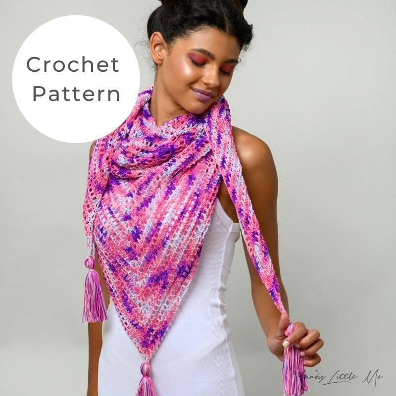 Love crochet shawl shop image