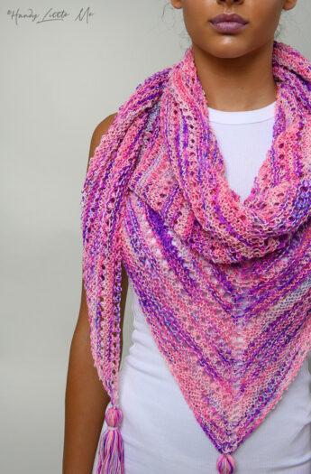 Love Triangle Shawl Knitting Pattern