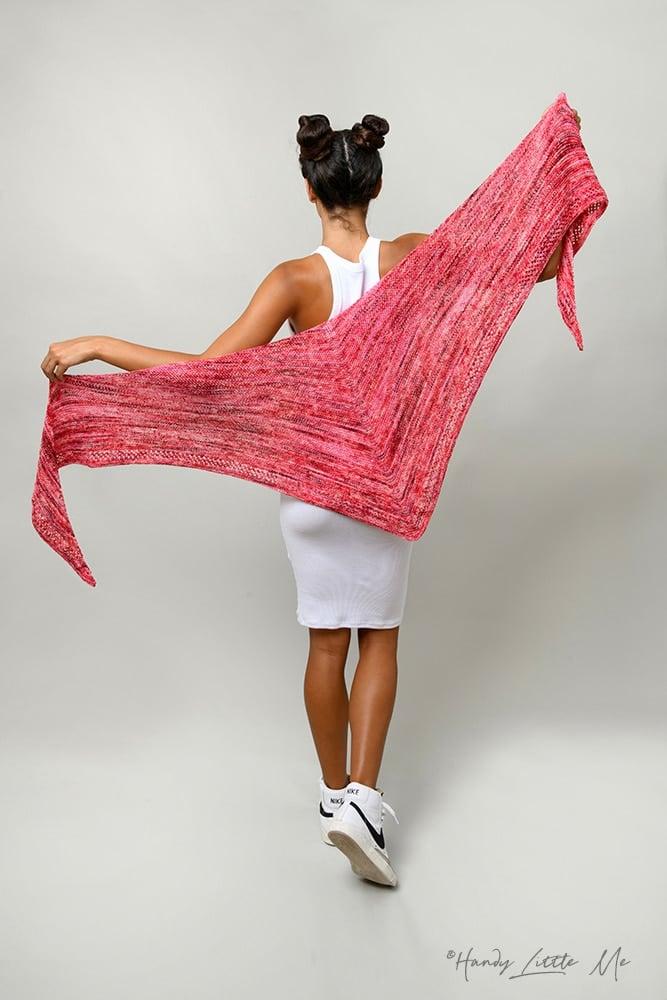 Martin's Lab yarn Ms M triangle shawl