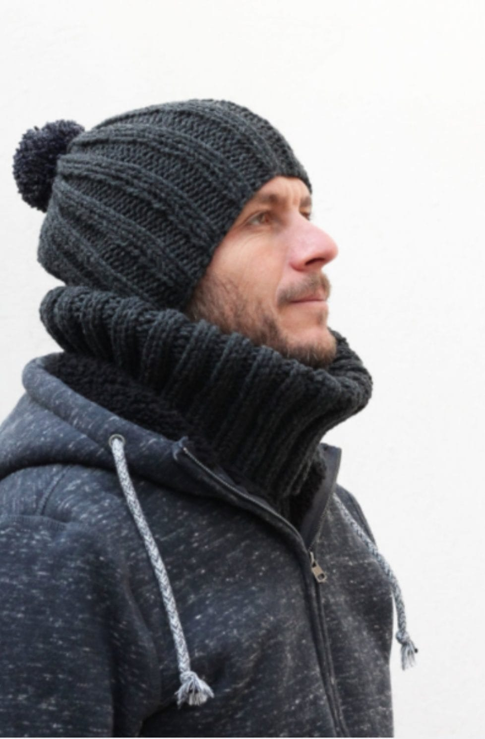 15e3822e0f5 Free Men s Hat Knitting Pattern. Free Knitting Patterns. mens knit hat grey
