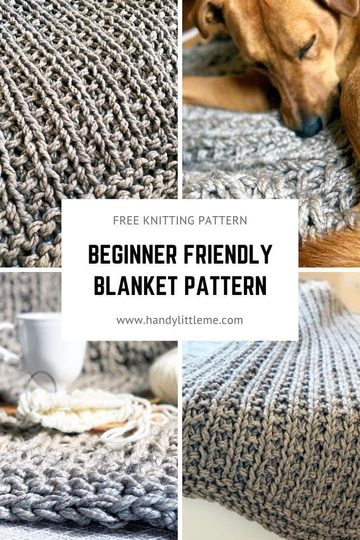 Modern throw knitting pattern