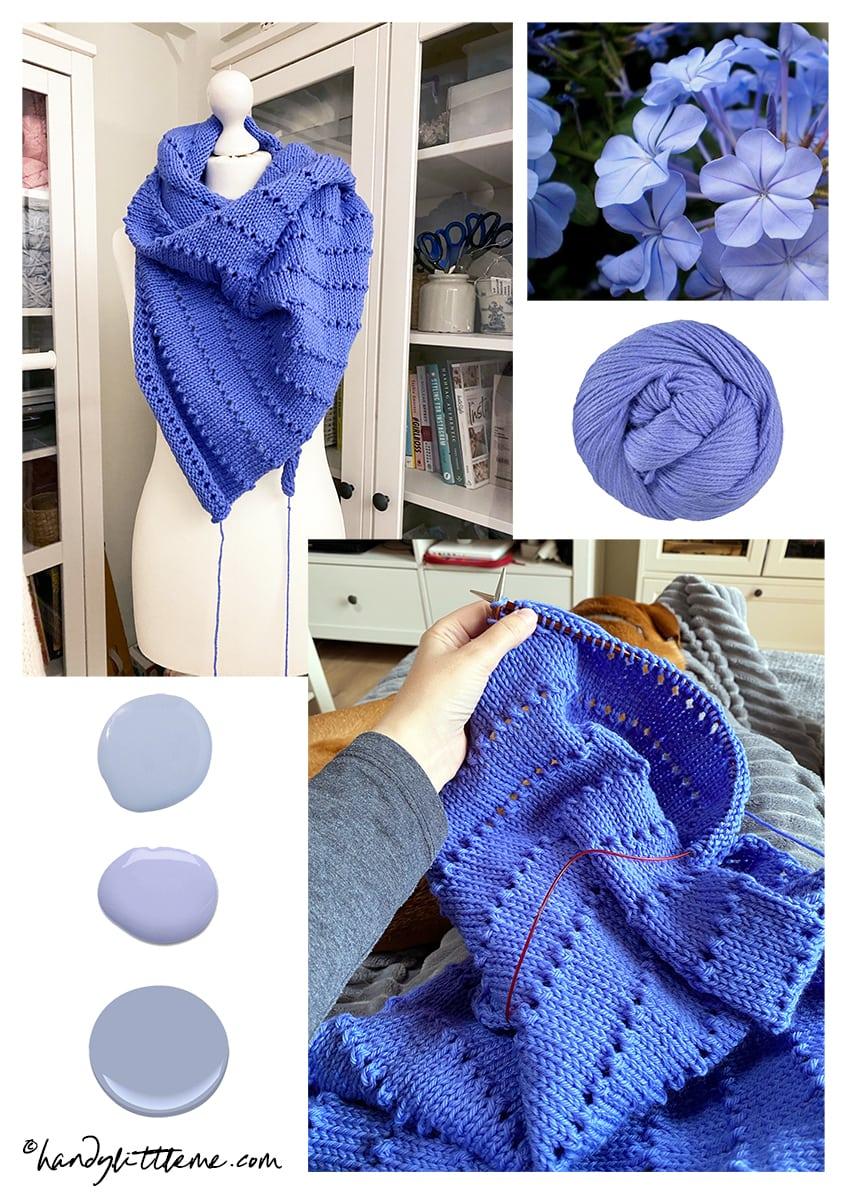 asymmetrical shawl mood board