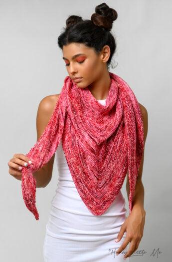 Ms.M Knitted Triangle Shawl Pattern