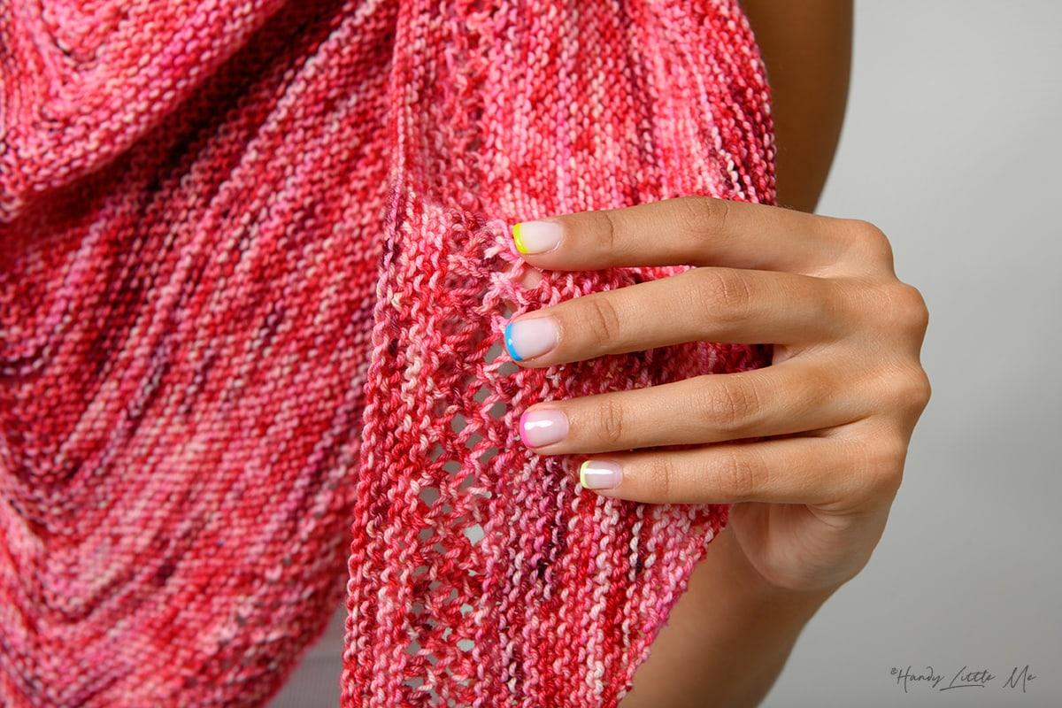 Ms M stitch pattern close up