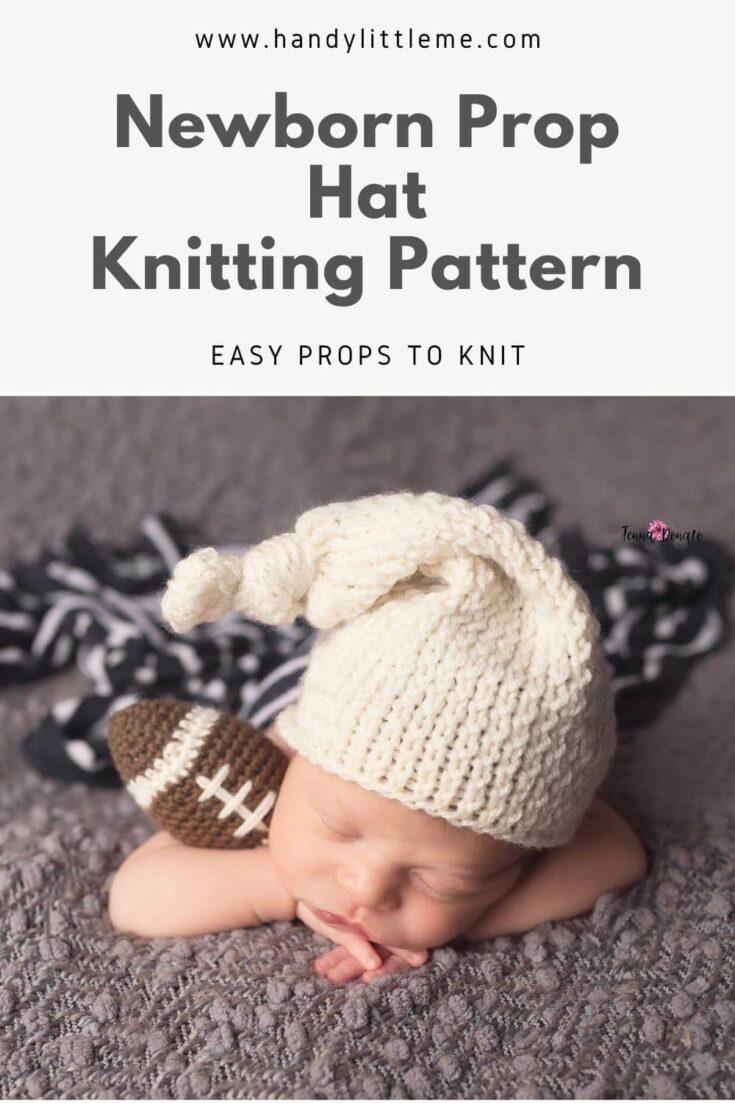 Newborn prop hat pattern