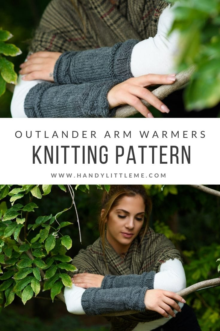 Outlander Claire Cable cuffs knitting pattern