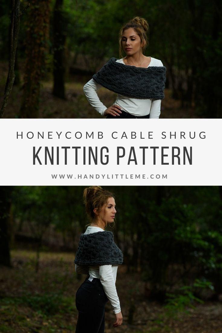 Outlander cable shrug knitting pattern