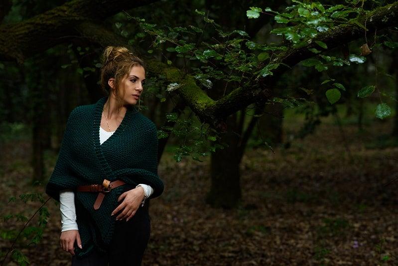 Highland forest shawl