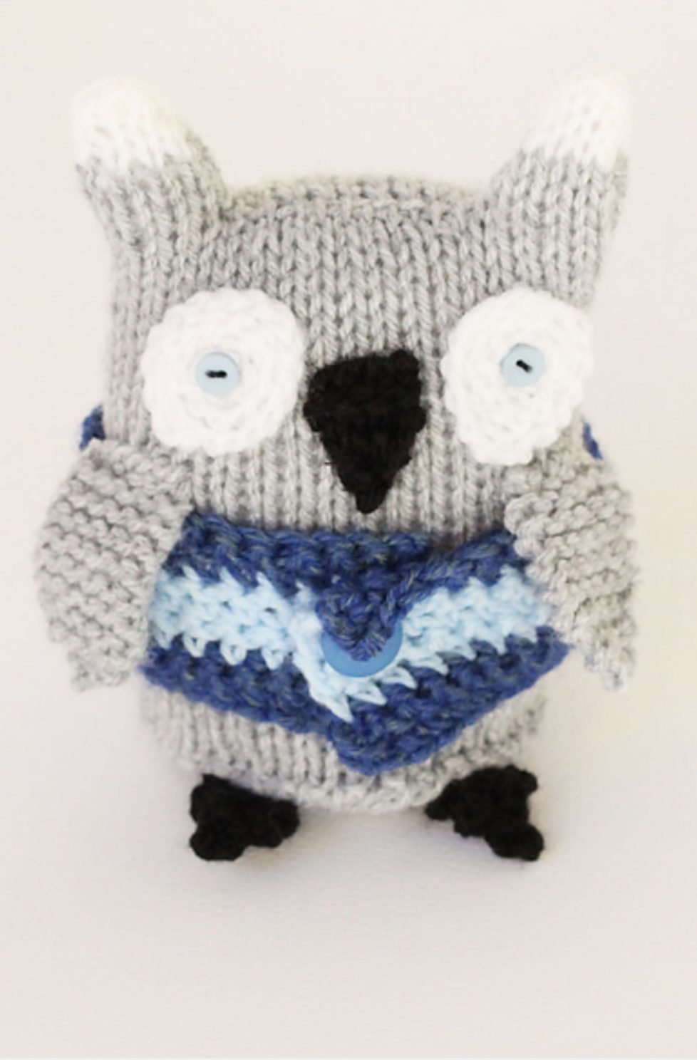 Owl Toy Knitting Pattern