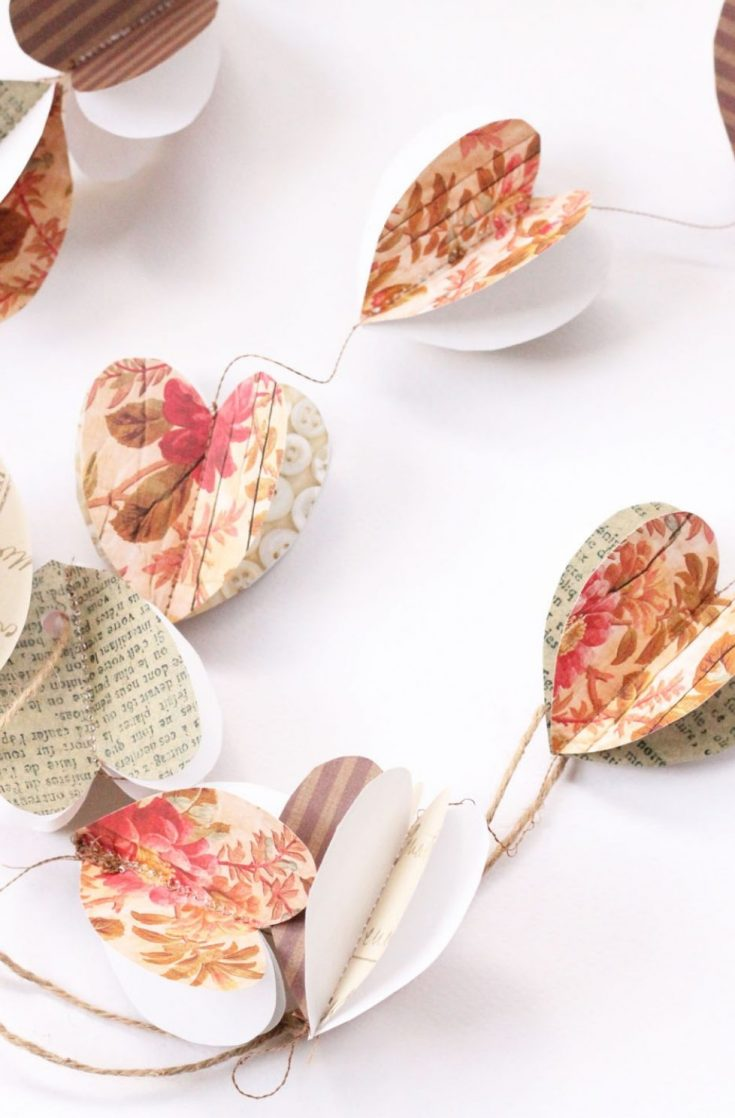 Paper hearts DIY