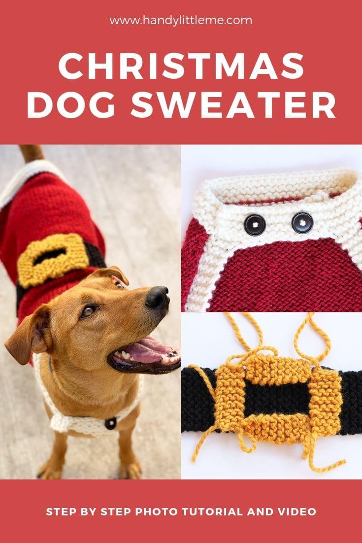 Christmas dog sweater knitting pattern