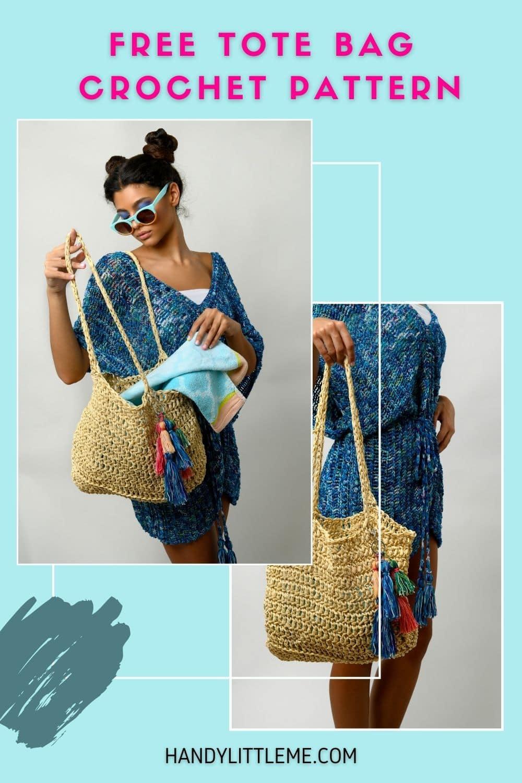 Raffia beach bag crochet pattern