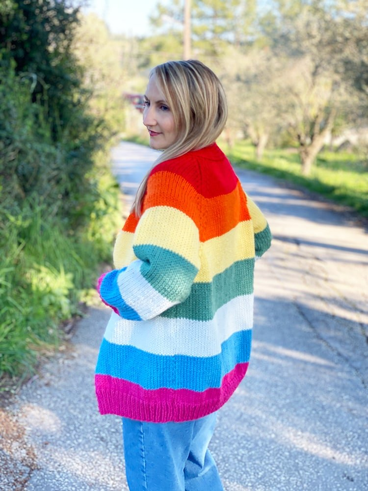 Rainbow cardigan pattern