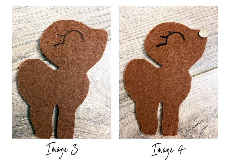 Reindeer craft step 2