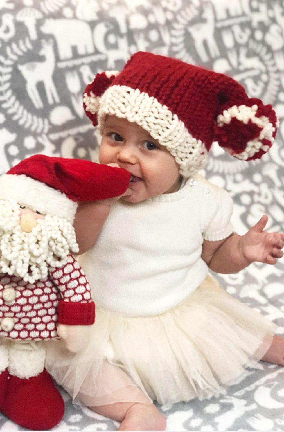 Santa hat patern