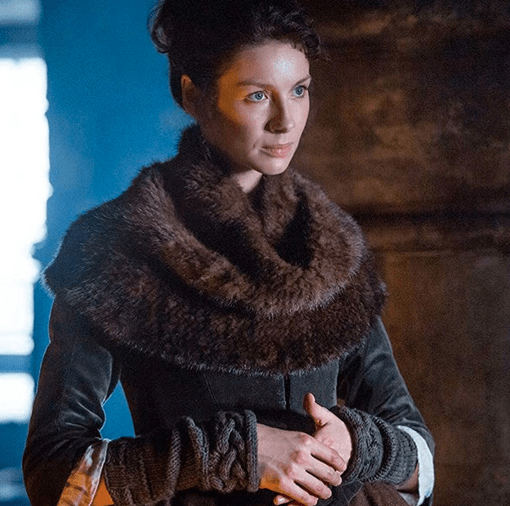 Outlander Claire fur cowl