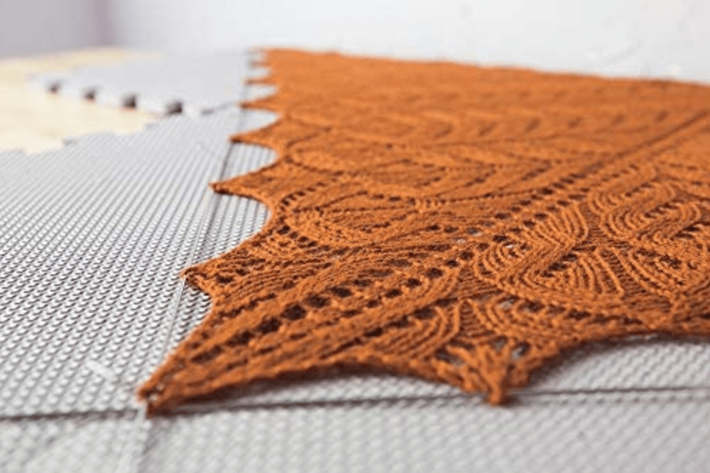 blocking knits with T pins to reshape