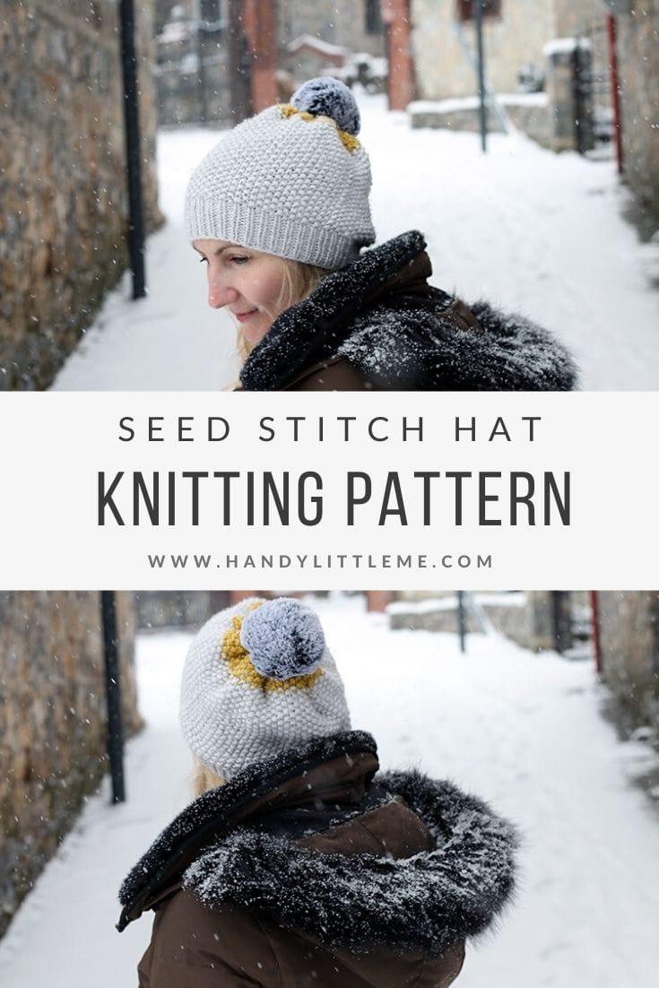 Seed stitch hat knitting pattern free