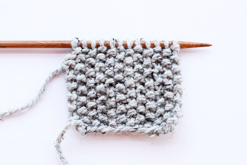 Seed stitch knit example