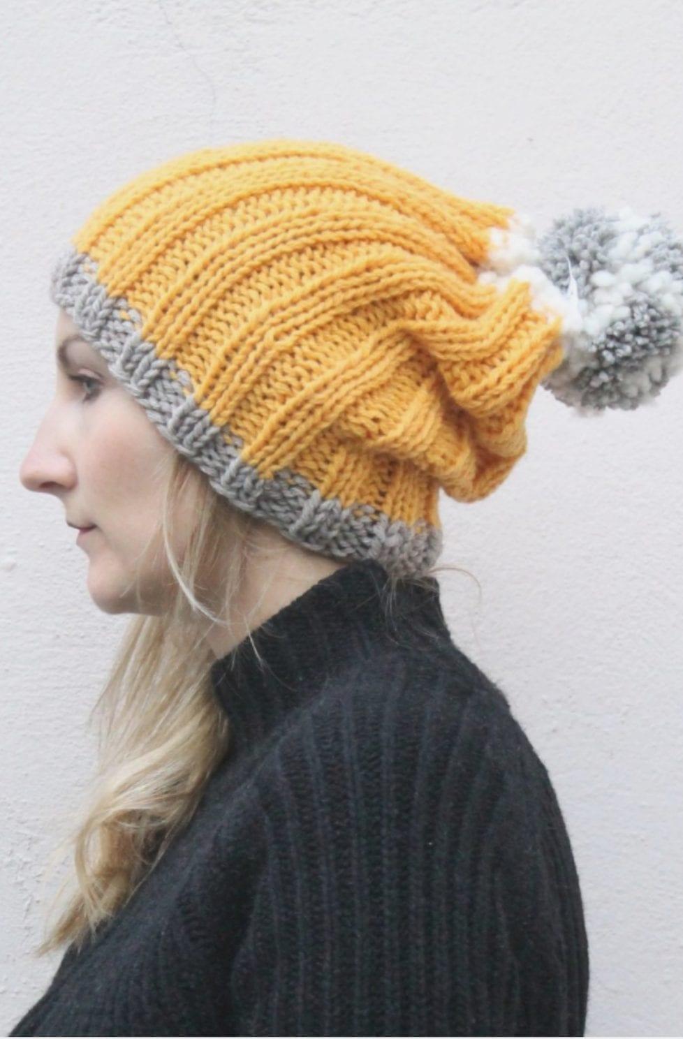 Beanie Free Knitting Pattern