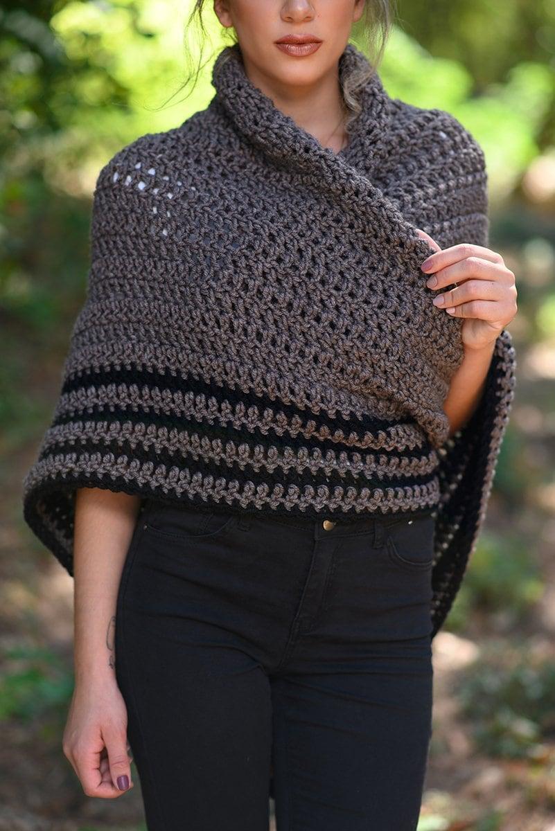 Sontag shawl crochet pattern