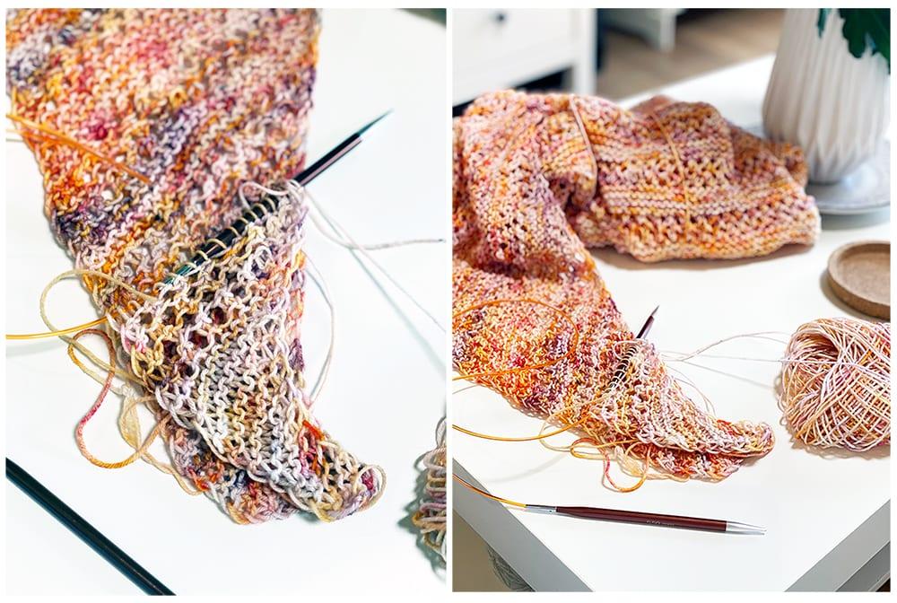 Starting the Diana shawl
