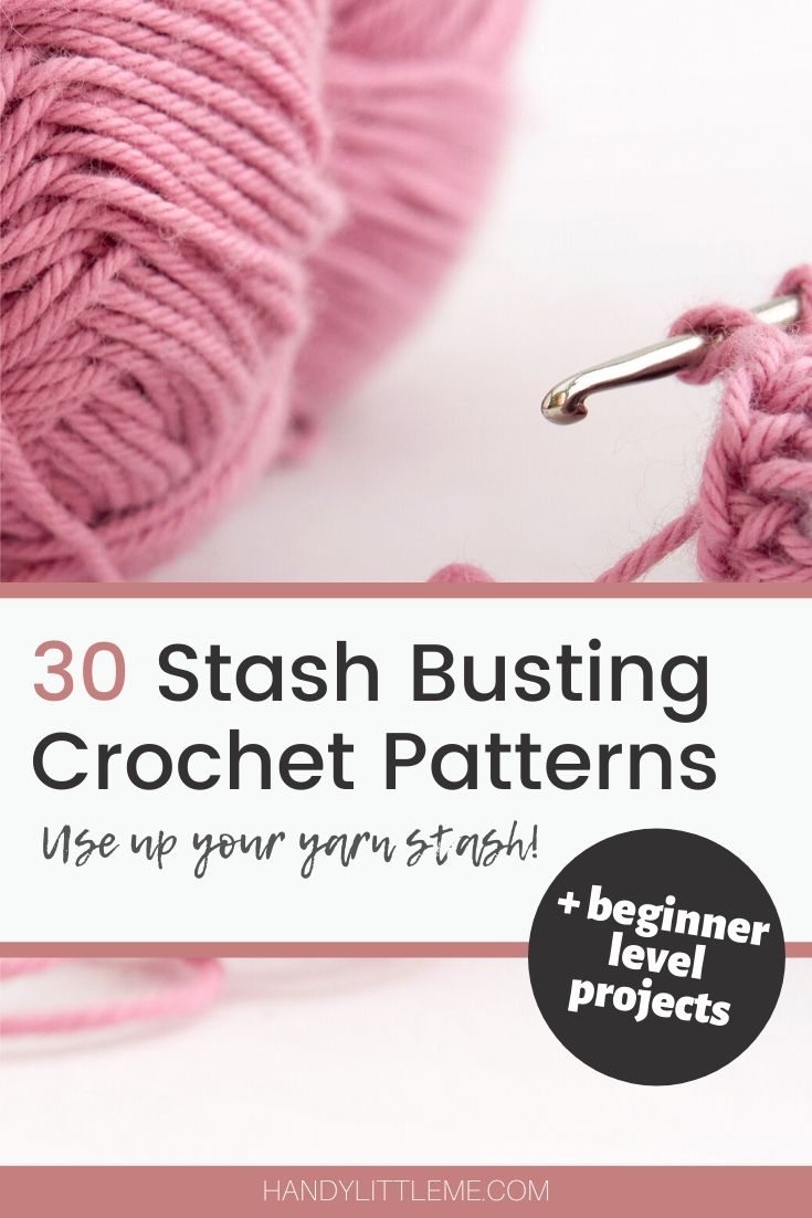 Stash busting crochet patterns