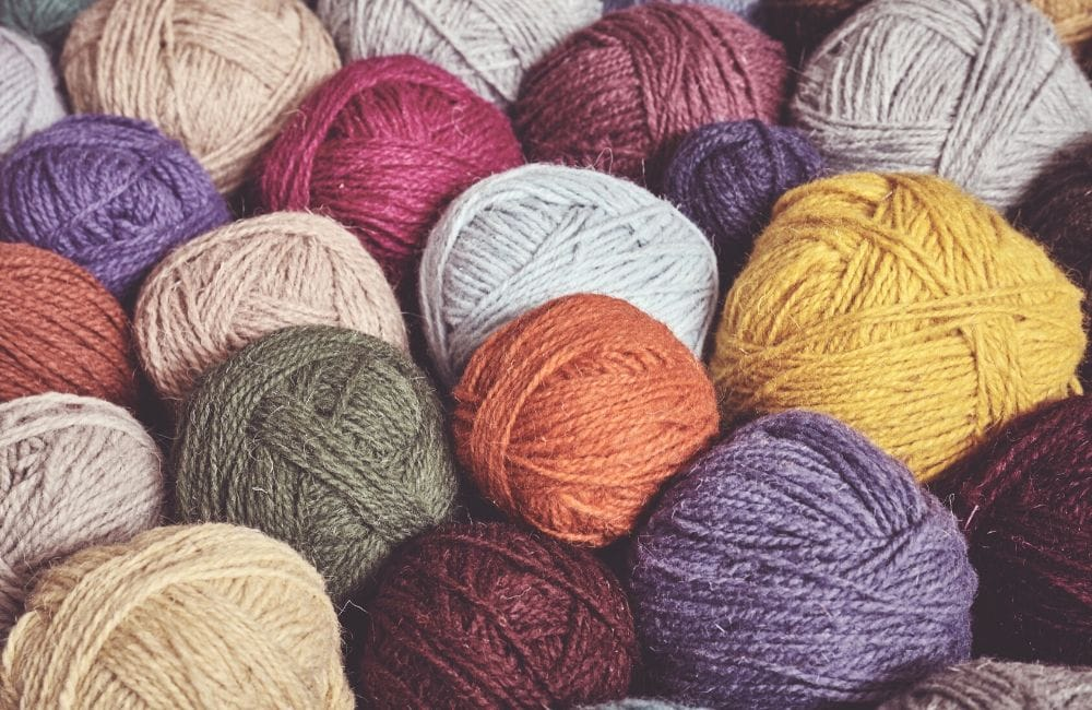 stash busting yarn stash with lots of different colours