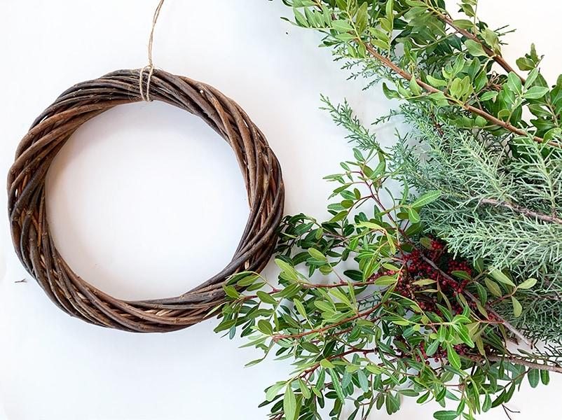 Step 1 wreath