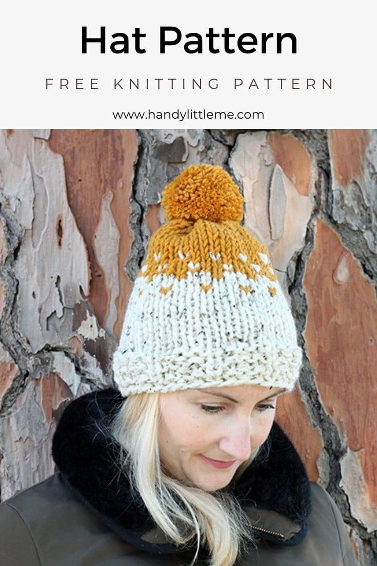 Stranded colorwork hat