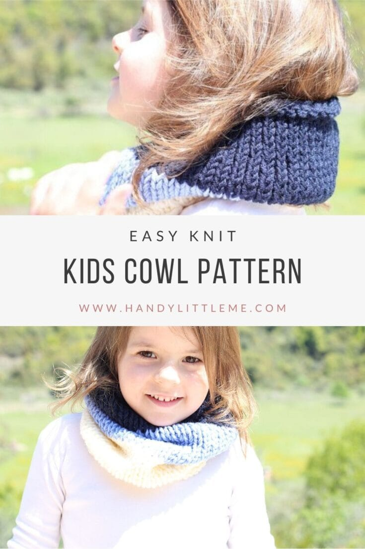 Striped Kids Cowl Pattern