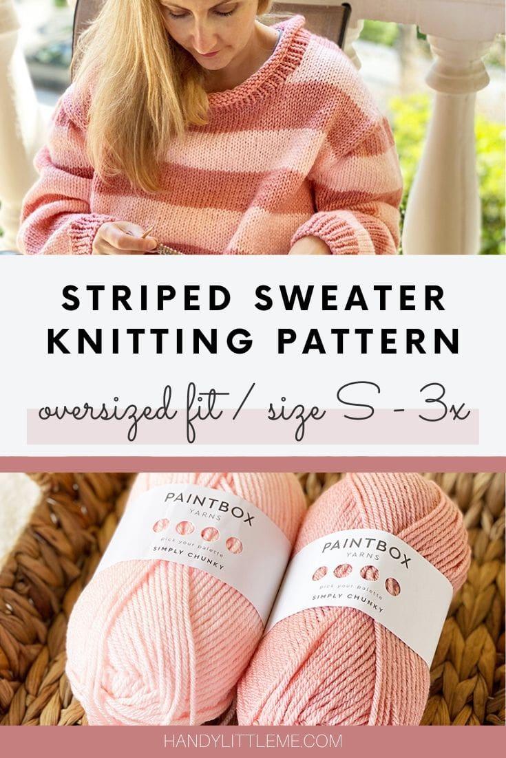 Striped sweater knitting pattern