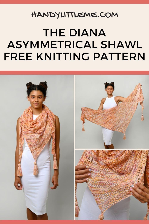 The Diana asymmetrical shawl pattern