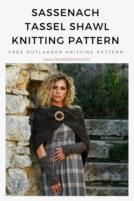 Tassel shawl knitting pattern