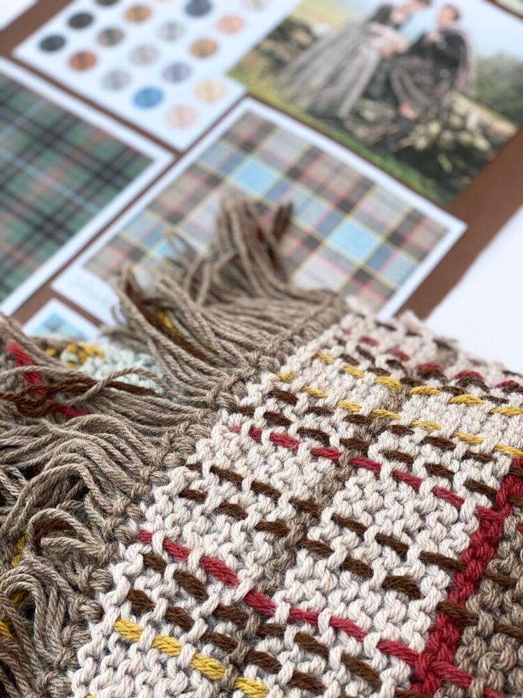 Tassels on blanket shawl
