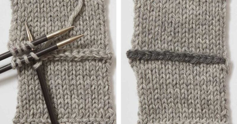 example of the three needle bind off