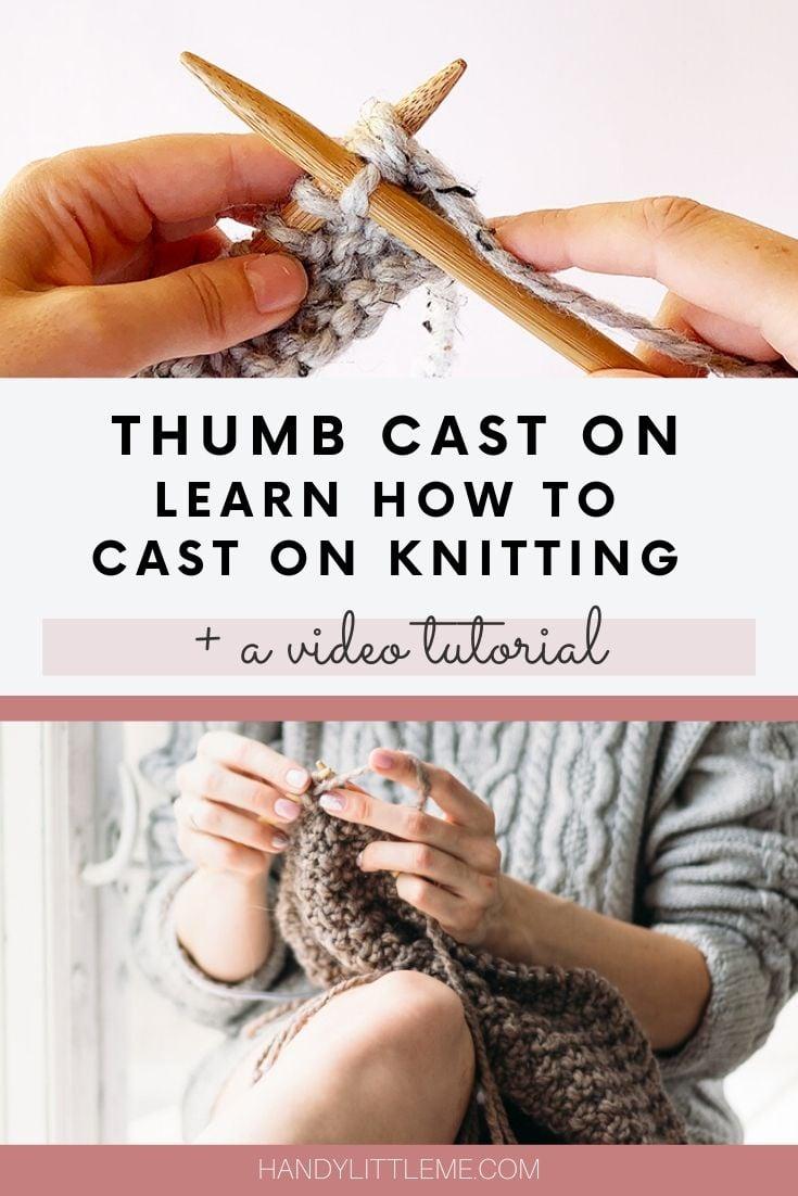 Thumb cast on