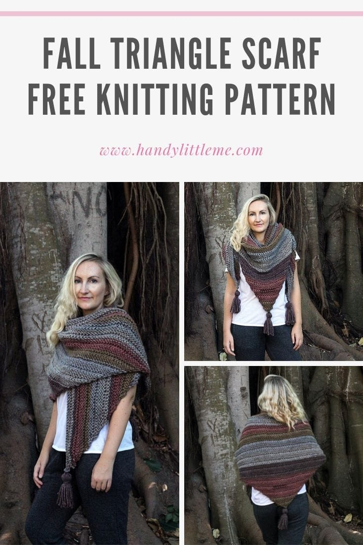 Triangle scarf knitting pattern