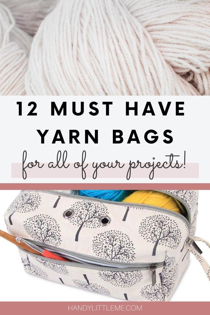 Yarn bags, knitting bags and yarn organizers