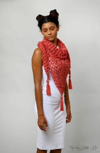 Crochet Granny Triangle Shawl Pattern