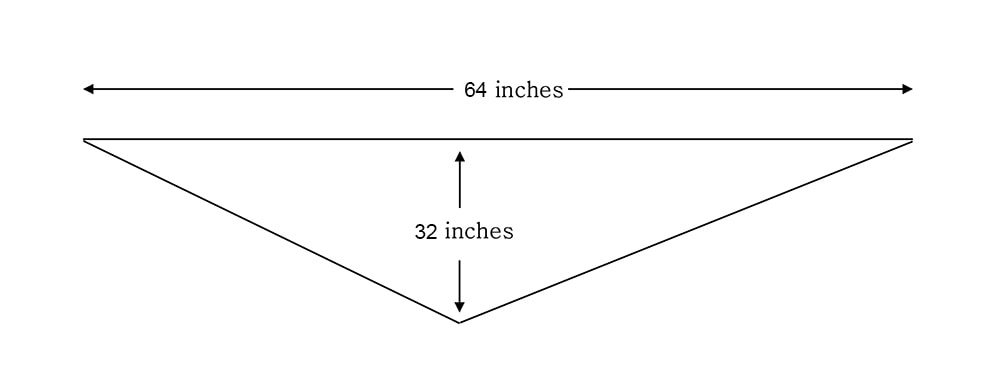 Zinnia triangle shawl measurements