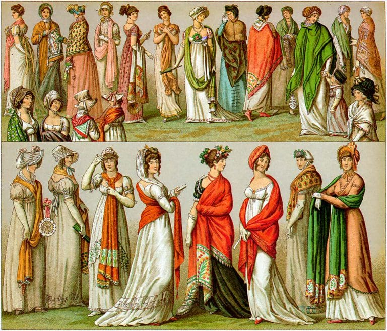 a-variety-of-women-wearing-shawls